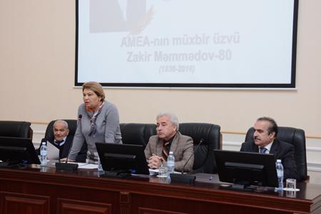 AMEA-nın müxbir üzvü Zakir Məmmədovun 80 illik yubileyi qeyd edilib