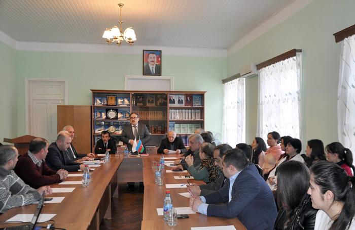 Şəki-Balakən bölgəsinin alban abidələrinə həsr olunan tədbir keçirilib