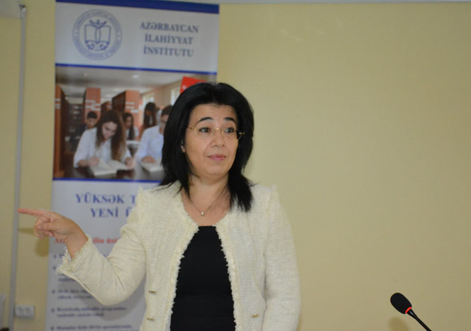 Correspondent member of ANAS Konul Bunyadzadeh delivered a lecture at the Azerbaijan Institute of Theology