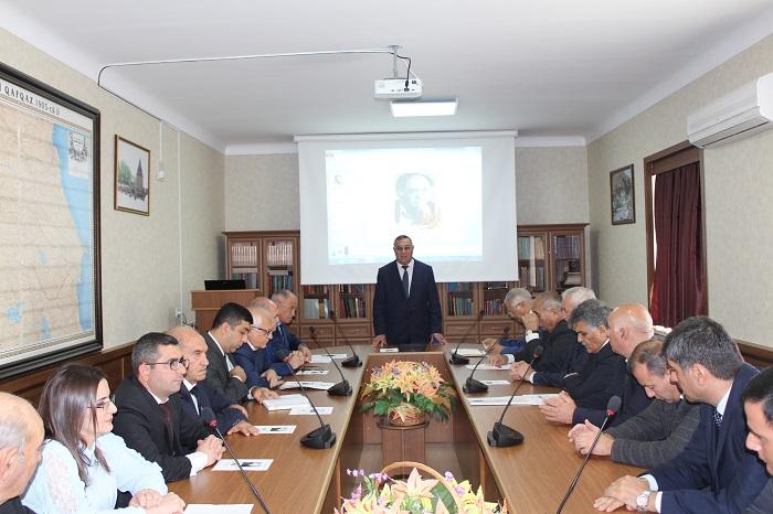 Naxçıvan Bölməsində akademik Azad Mirzəcanzadənin 90 illik yubileyi qeyd olunub