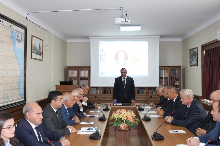 Görkəmli etnoqraf-alim Qadir Qədirzadənin 70 illik yubileyi qeyd edilib