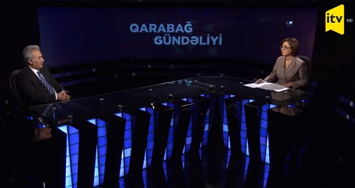 """Professor Nazim İmanov """"Qarabağ gündəliyi"""" verilişinin qonağı olub"""
