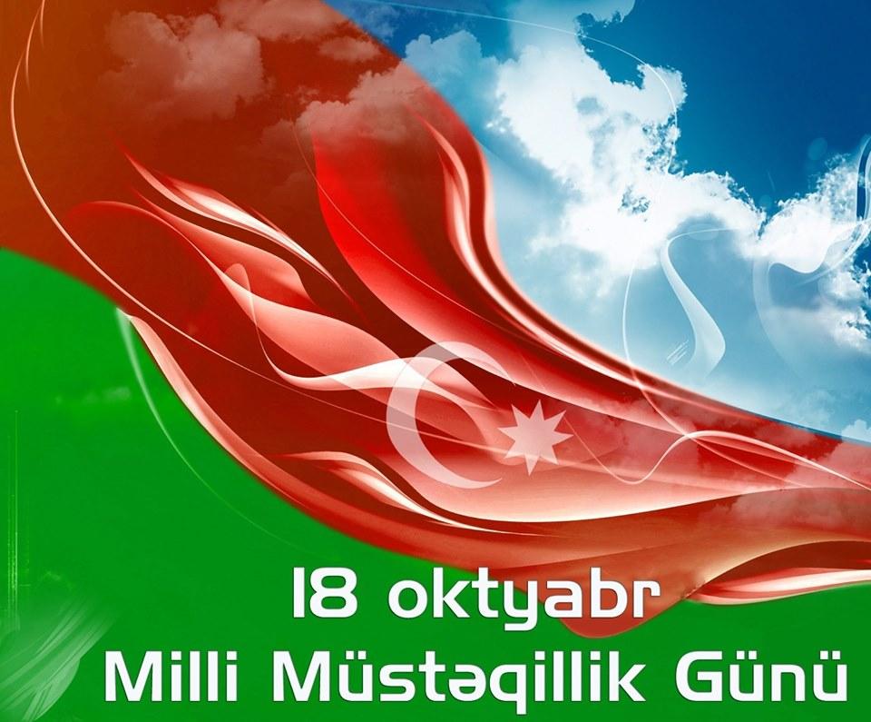 18 oktyabr Dövlət Müstəqilliyi günüdür