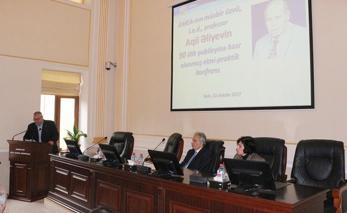 AMEA-da görkəmli iqtisadçı alim Aqil Əliyevin 90 illiyinə həsr olunan konfrans keçirilib