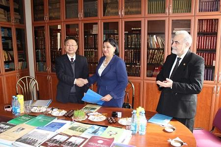 Şərqşünaslıq İnstitutu ilə Çinin Qansu vilayətinin İctimai Elmlər Akademiyası arasında müqavilə imzalanıb
