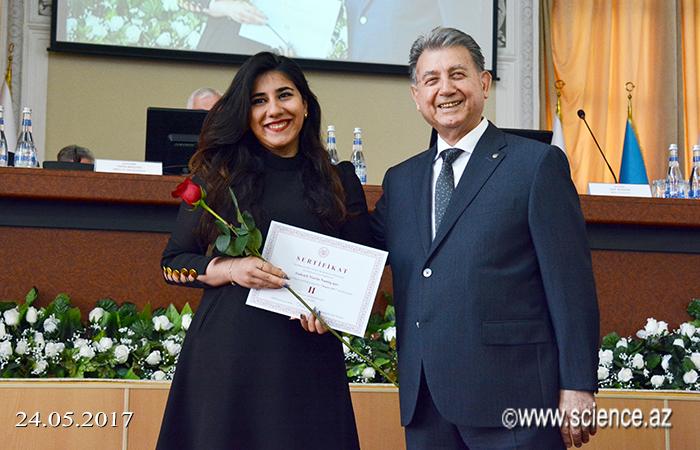 """""""Magistr-2017"""" müsabiqəsinin qalibləri mükafatlandırılıb"""